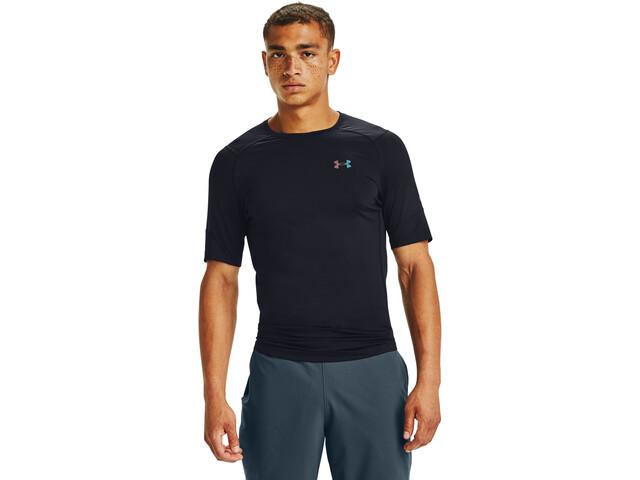 Under Armour HealGear Rush 2.0 Comp Short Sleeve Shirt Men, zwart